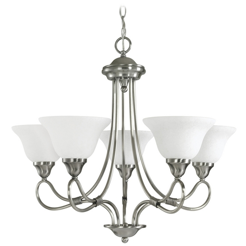Kichler Lighting Kichler Chandelier with White Glass in Antique Pewter Finish 2557AP