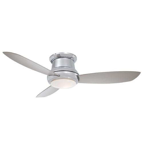 Minka Aire Fans Modern Ceiling Fan with Light with White Glass F519-PN