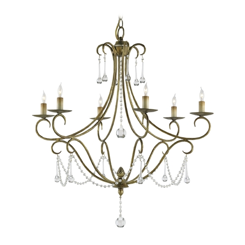 Currey and Company Lighting Chandelier in Rhine Gold Finish 9192
