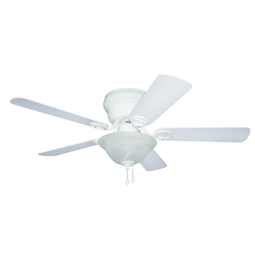 Craftmade Lighting Craftmade Lighting Wyman White Ceiling Fan with Light WC42WW5C1