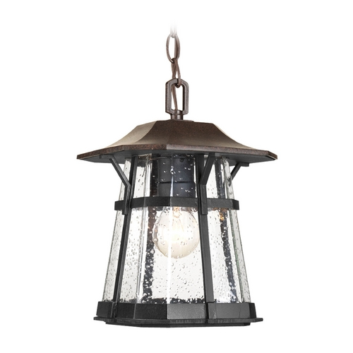Progress Lighting Outdoor Hanging Light with Clear Glass in Espresso Finish P5579-84