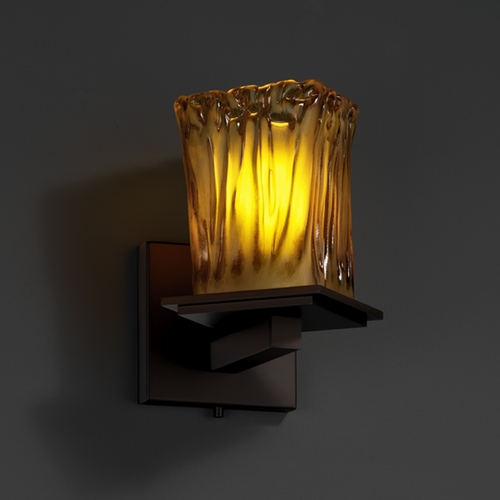 Justice Design Group Justice Design Group Veneto Luce Collection Sconce GLA-8661-26-AMBR-DBRZ
