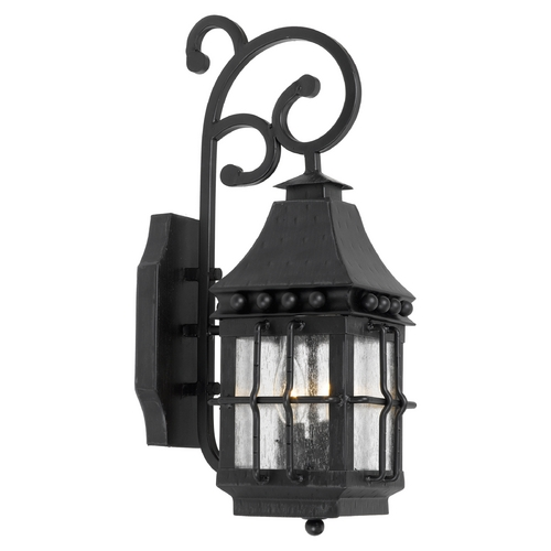 Elk Lighting Outdoor Wall Light with Clear Glass in Espresso Finish 8449-E