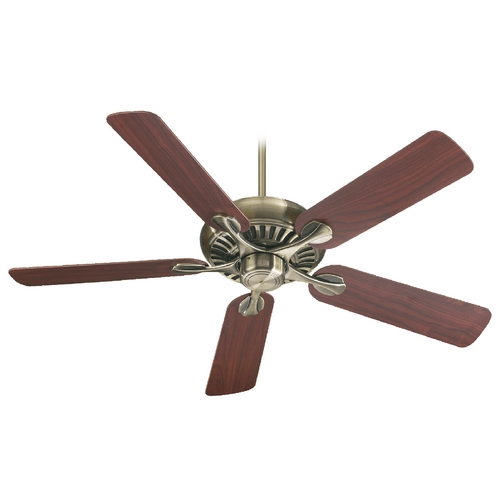 Quorum Lighting Quorum Lighting Pinnacle Antique Brass Ceiling Fan Without Light 91525-4