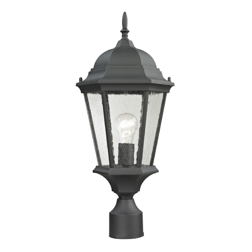Cornerstone Lighting Cornerstone Lighting Temple Hill Matte Textured Black Post Light 8101EP/65