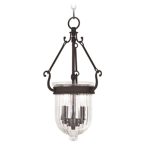 Livex Lighting Livex Lighting Coventry Bronze Mini-Pendant Light with Bowl / Dome Shade 50513-07