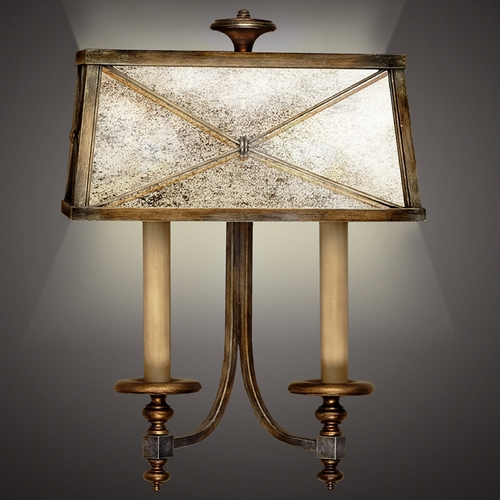 Fine Art Lamps Fine Art Lamps Newport Burnished Gold with Silver Highlights Sconce 563250ST