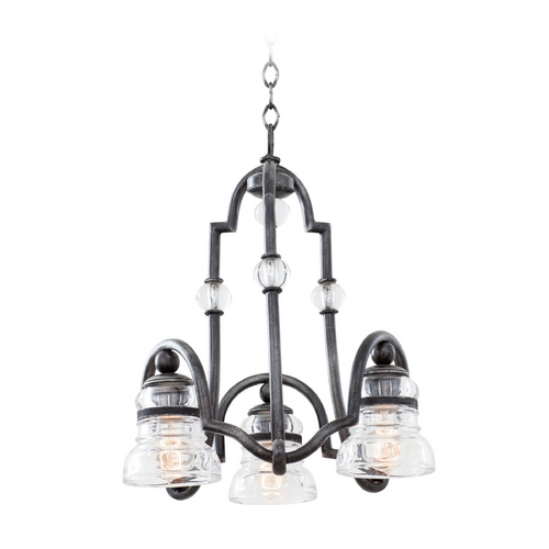 Kalco Lighting Kalco Lighting Hemmingray Vintage Iron Mini-Chandelier 7177VI