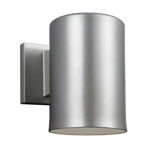 Sea Gull Lighting Sea Gull Lighting Outdoor Bullets Painted Brushed Nickel Outdoor Wall Light 8313801BLE-753