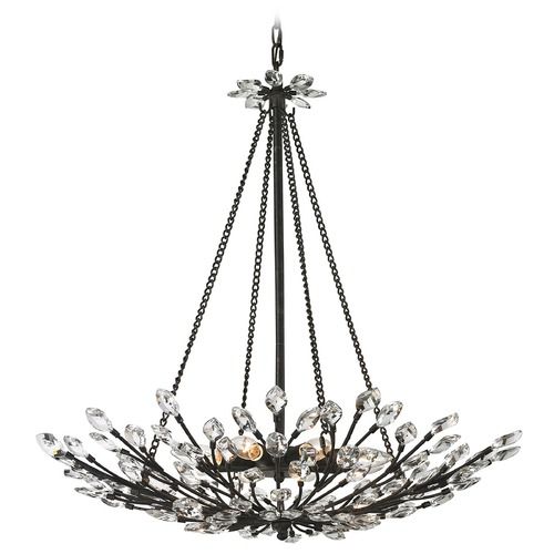 Elk Lighting Elk Lighting Crystal Branches Burnt Bronze Pendant Light 11773/8