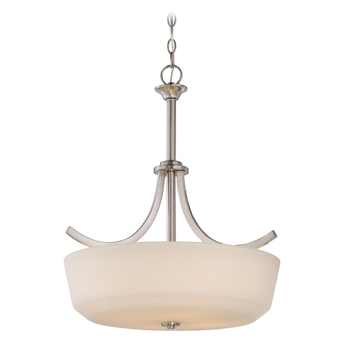 Nuvo Lighting Nuvo Lighting Laguna Brushed Nickel Pendant Light with Bowl / Dome Shade 60/5827
