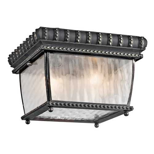 Kichler Lighting Kichler Close To Ceiling Light with Clear Glass in Black W/gold Finish 49136BKG