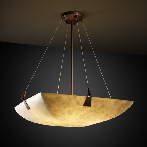 Justice Design Group Justice Design Group Clouds Collection Pendant Light CLD-9642-25-DBRZ