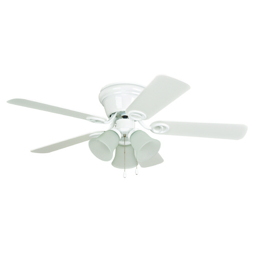 Craftmade Lighting Craftmade Lighting Wyman White Ceiling Fan with Light WC42WW5C3F