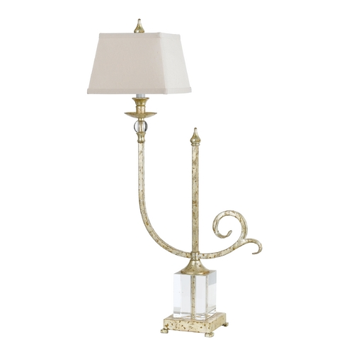 AF Lighting Console & Buffet Lamp with Beige / Cream Shade in Soft Gold Finish 7904-TL
