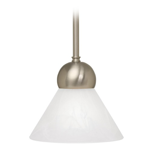 Design Classics Lighting Single-Light Pendant with Alabaster Glass 3981-09