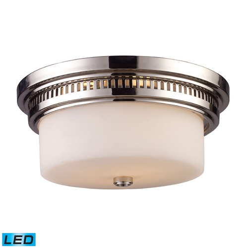 Elk Lighting Elk Lighting Chadwick Polished Nickel LED Flushmount Light 66111-2-LED