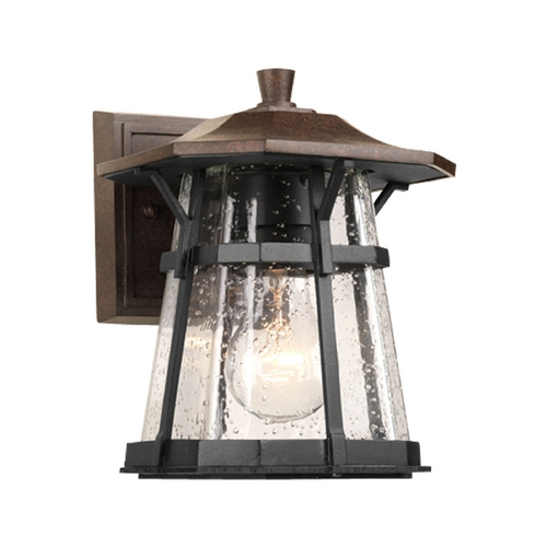 Progress Lighting Progress Outdoor Wall Light with Clear Glass in Espresso Finish P5749-84