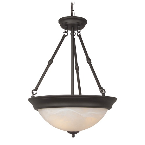 Jeremiah Lighting Jeremiah Oiled Bronze Pendant Light with Bowl / Dome Shade X225-OB-NRG
