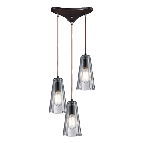Elk Lighting Multi-Light Pendant Light with Clear Glass and 3-Lights 60048-3