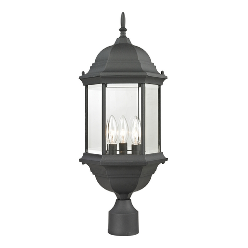 Cornerstone Lighting Cornerstone Lighting Spring Lake Matte Textured Black Post Light 8603EP/65