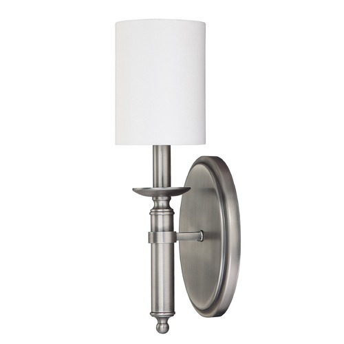 Capital Lighting Capital Lighting Covington Antique Nickel Sconce 6301AN-489