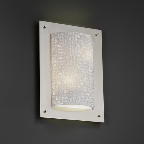 Justice Design Group Justice Design Group Framed Family Brushed Nickel Sconce 3FRM-5563-TILE-NCKL
