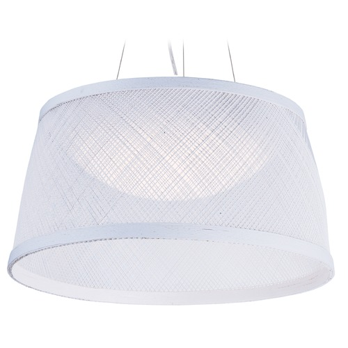 Maxim Lighting Maxim Lighting Bahama White LED Pendant Light with Bowl / Dome Shade 54376WT