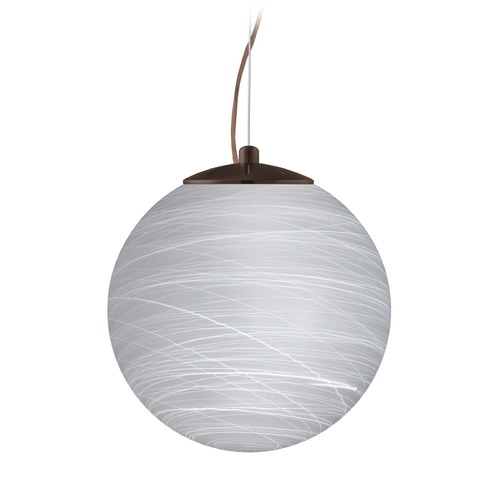 Besa Lighting Besa Lighting Callisto Bronze LED Pendant Light with Globe Shade 1KX-432960-LED-BR