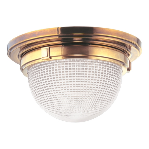 Hudson Valley Lighting Flushmount Light with Clear Glass in Aged Brass Finish 4418-AGB