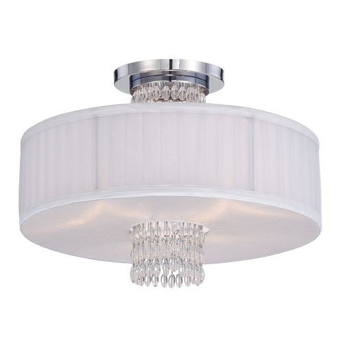 Designers Fountain Lighting Semi-Flushmount Light with Silver Shades in Chrome Finish 83911-CH