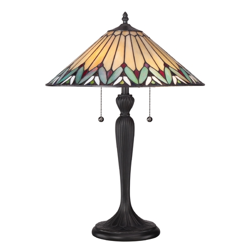 Quoizel Lighting Table Lamp with Multi-Color Glass TF1433T