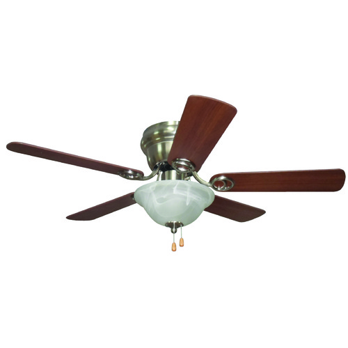 Craftmade Lighting Craftmade Lighting Wyman Brushed Polished Nickel Ceiling Fan with Light WC42BNK5C1