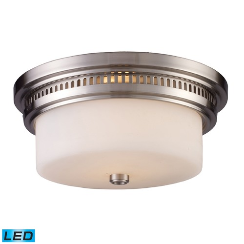 Elk Lighting Elk Lighting Chadwick Satin Nickel LED Flushmount Light 66121-2-LED
