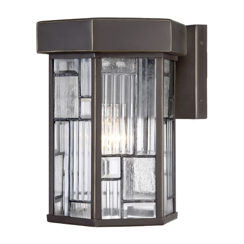 Designers Fountain Lighting Seeded Glass Outdoor Wall Light Bronze Designers Fountain Lighting 32131-ABP