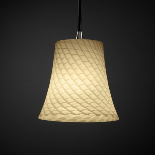 Justice Design Group Justice Design Group Fusion Collection Mini-Pendant Light FSN-8815-20-WEVE-ABRS