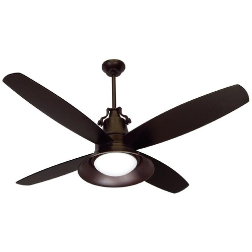Craftmade Lighting Craftmade Lighting Union Oiled Bronze Gilded Ceiling Fan with Light UN52OBG4