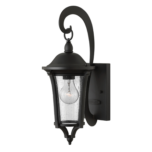 Hinkley Lighting Outdoor Wall Light with Clear Glass in Black Finish 1380BK