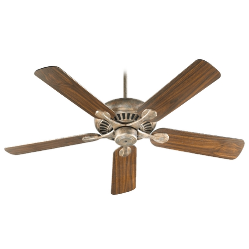 Quorum Lighting Quorum Lighting Pinnacle Mystic Silver Ceiling Fan Without Light 91525-58