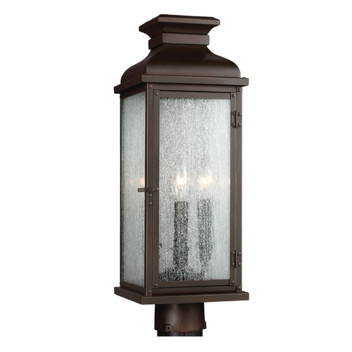 Feiss Lighting Feiss Lighting Pediment Dark Aged Copper Post Light OL11107DAC