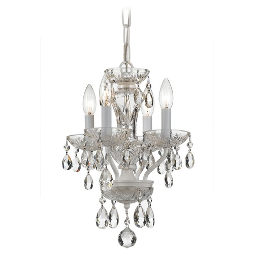 Crystorama Lighting Crystorama Lighting Traditional Crystal Wet White Chandelier 5534-WW-CL-I