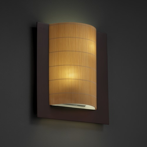 Justice Design Group Justice Design Group Framed Family Dark Bronze Sconce 3FRM-5562-TAKE-DBRZ