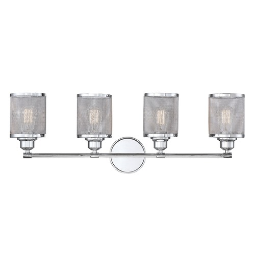 Savoy House Polished Chrome Bathroom Light Salvador Collection by Savoy House 8-1075-4-11