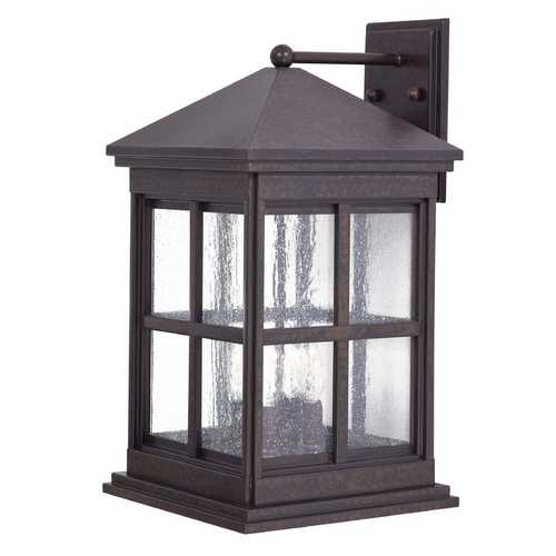 Minka Lavery Outdoor Wall Light with Clear Glass in Rust Finish 8563-51
