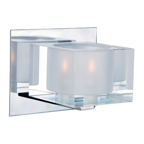Maxim Lighting Modern Sconce with Clear Glass in Polished Chrome Finish 10001CLPC