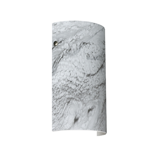 Besa Lighting Modern Sconce Wall Light Marble Grigio Glass Satin Nickel by Besa Lighting 7042MG-SN