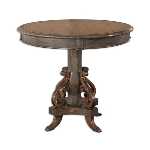 Uttermost Lighting Table in Charcoal Grey Finish 25508