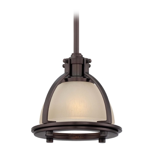 Minka Lavery Mini-Pendant Light with Beige / Cream Glass 2240-281