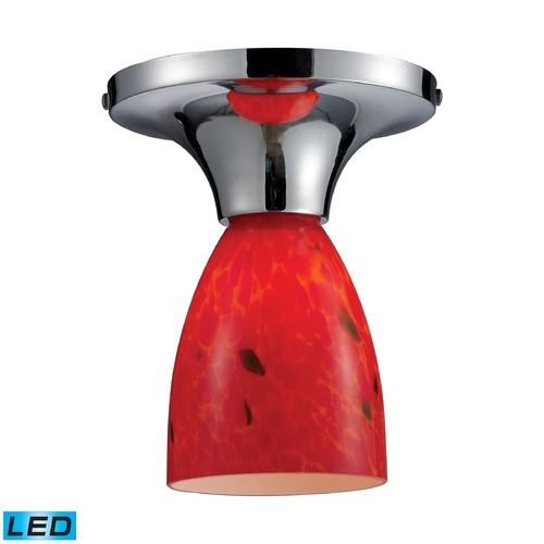 Elk Lighting Elk Lighting Celina Polished Chrome LED Semi-Flushmount Light 10152/1PC-FR-LED