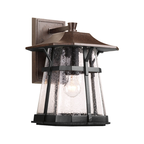 Progress Lighting Progress Outdoor Wall Light with Clear Glass in Espresso Finish P5751-84